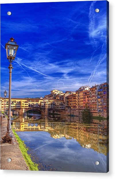 Arno River Florence Acrylic Print by Clint Hudson