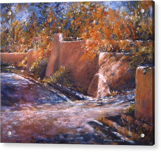 asequia Madre in Fall Acrylic Print by James Roybal