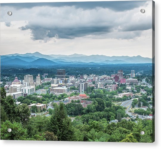 Acrylic Print featuring the photograph Asheville Afternoon Cropped by Jemmy Archer