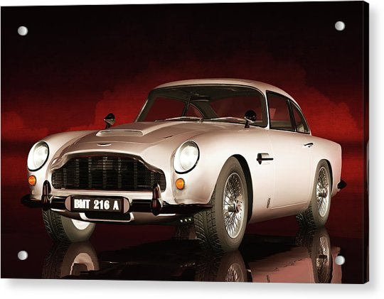 Acrylic Print featuring the painting Aston Martin Db5 by Jan Keteleer