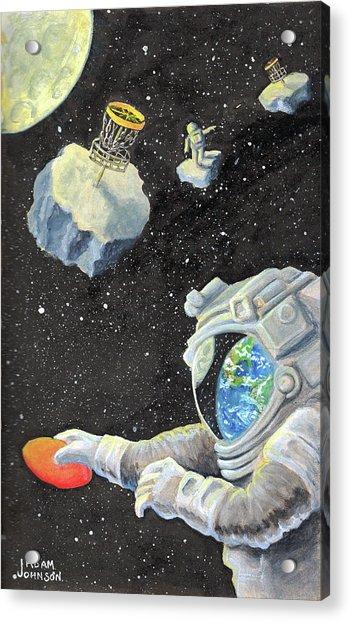 Astronaut Disc Golf Acrylic Print