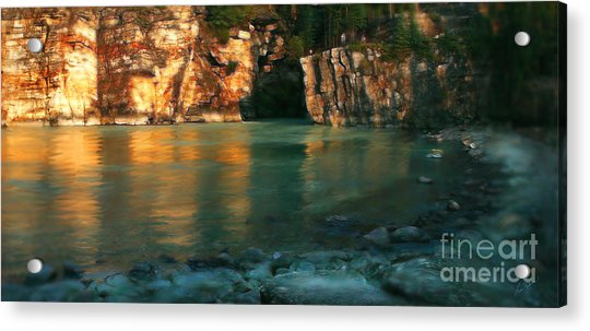 Athabasca At Sunset Acrylic Print