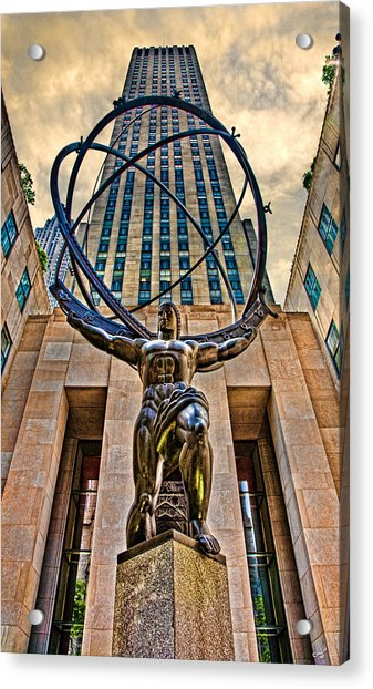 Acrylic Print featuring the photograph Atlas At The Rock by Chris Lord