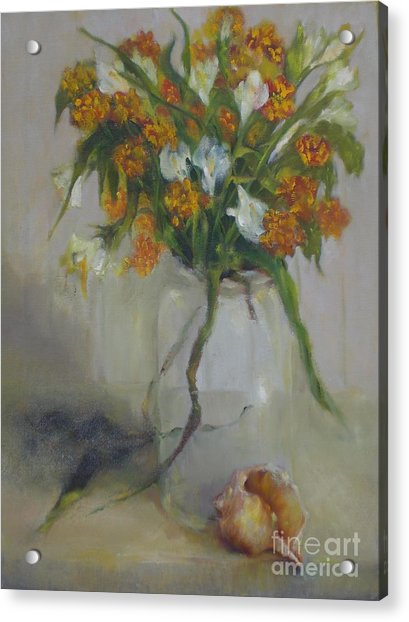 August Wildflowers        Copyrighted Acrylic Print by Kathleen Hoekstra