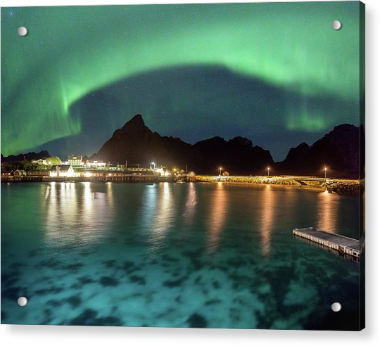Aurora Above Turquoise Waters Acrylic Print