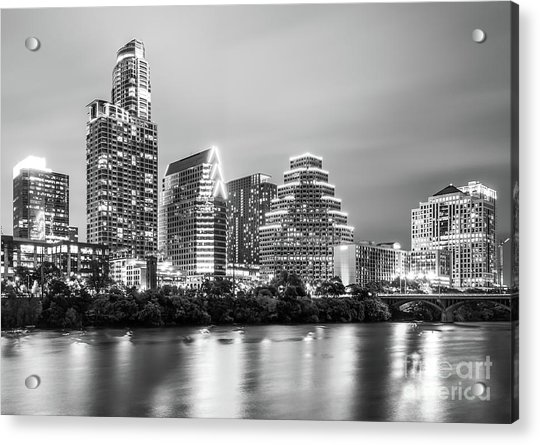 Austin Skyine At Night Acrylic Print