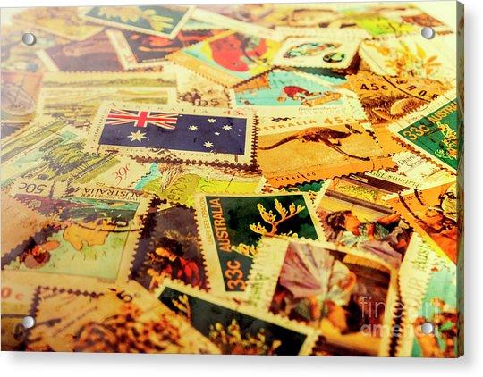 Australian Postal Background Acrylic Print