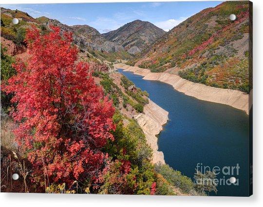 Autumn At Causey Reservoir - Utah Acrylic Print