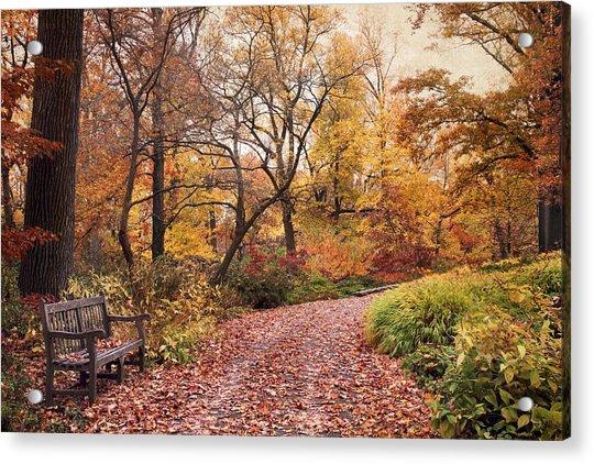 Autumn Azalea Garden Acrylic Print