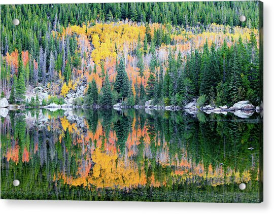 Autumn Mirror At Bear Lake Acrylic Print