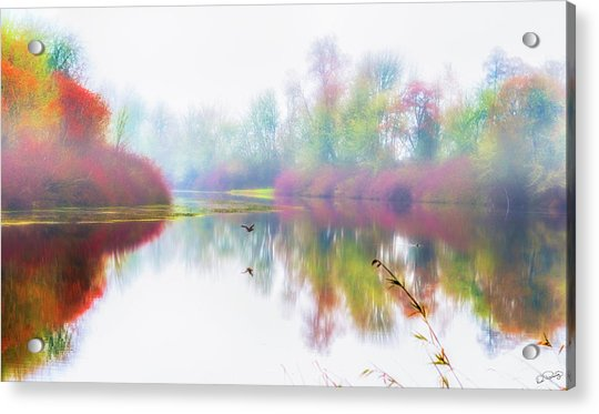 Autumn Morning Dream Acrylic Print