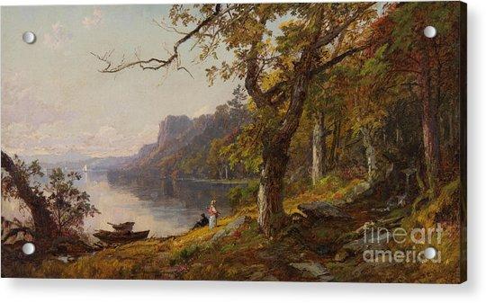 Autumn On The Hudson Acrylic Print