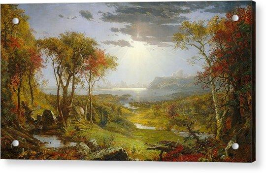 Autumn On The Hudson River  Acrylic Print
