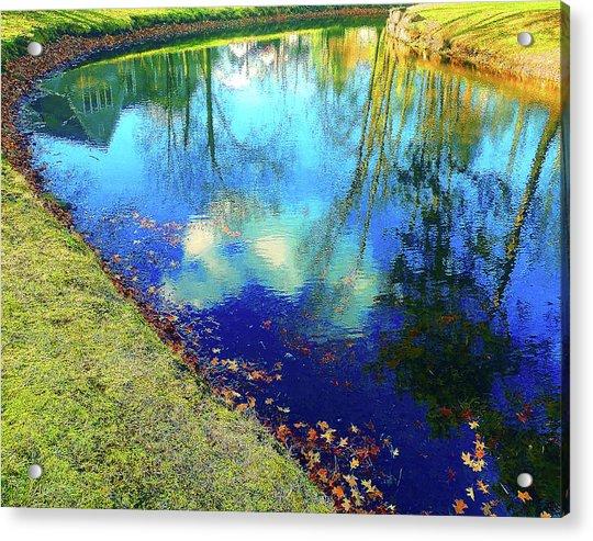 Autumn Reflection Pond Acrylic Print