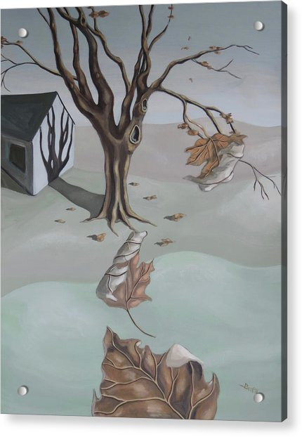 Acrylic Print featuring the painting Autumn Remnants by Sally Banfill