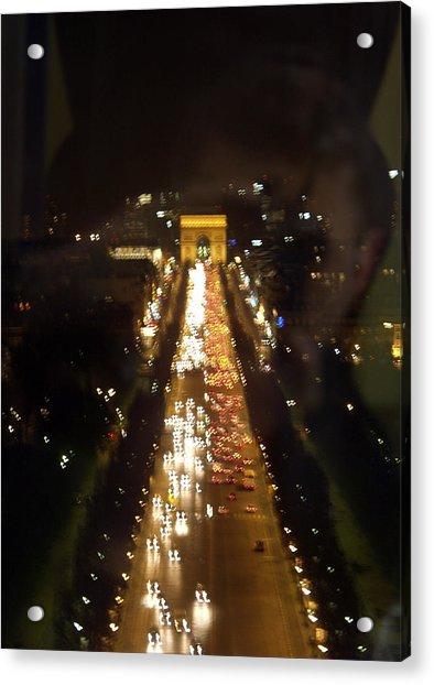 Avenue Des Champs D Elysees Acrylic Print