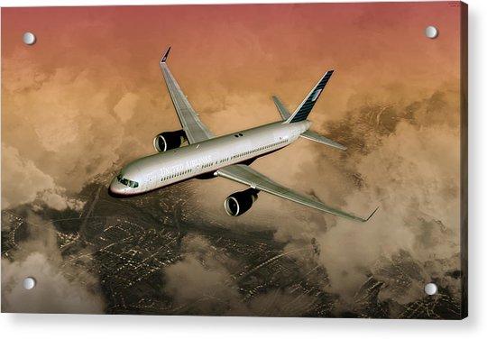 B757 Dawn Approach Acrylic Print