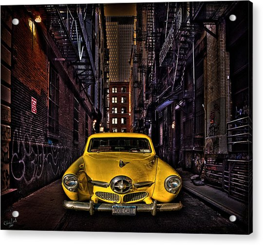Acrylic Print featuring the photograph Back Alley Taxi Cab by Chris Lord