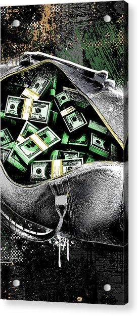 Bag-o-money Acrylic Print