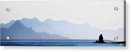 Baja Point Blue Acrylic Print
