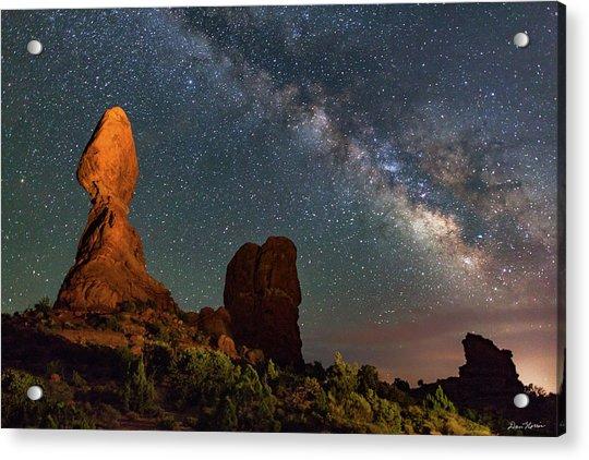 Balanced Rock And Milky Way Acrylic Print
