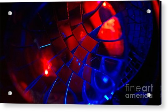 Ball Of Color - Red Acrylic Print