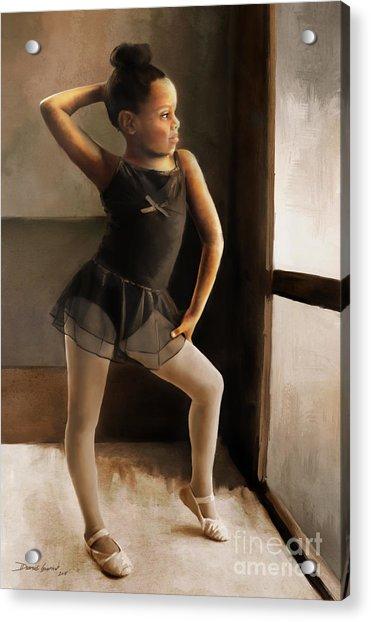 Acrylic Print featuring the digital art Ballerina by Dwayne Glapion