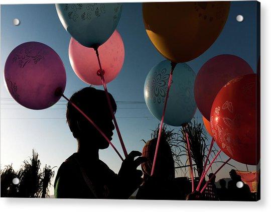 Balloon Seller At Pushkar Acrylic Print