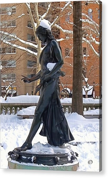Acrylic Print featuring the photograph Barefoot In The Park by Rona Black