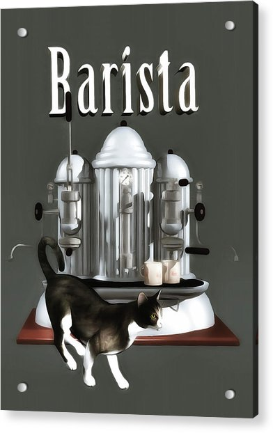 Acrylic Print featuring the painting Barista by Jan Keteleer