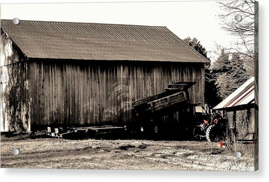 Barn And Truck Acrylic Print