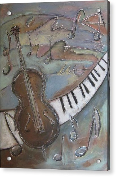 Bass And  Keys Acrylic Print