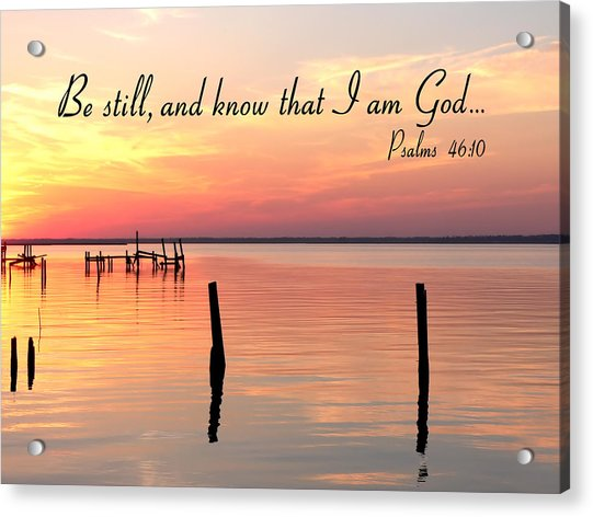 Bay Sunset Psalms Acrylic Print