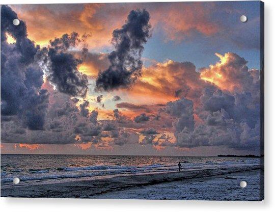 Beach Walk - Florida Seascape Acrylic Print