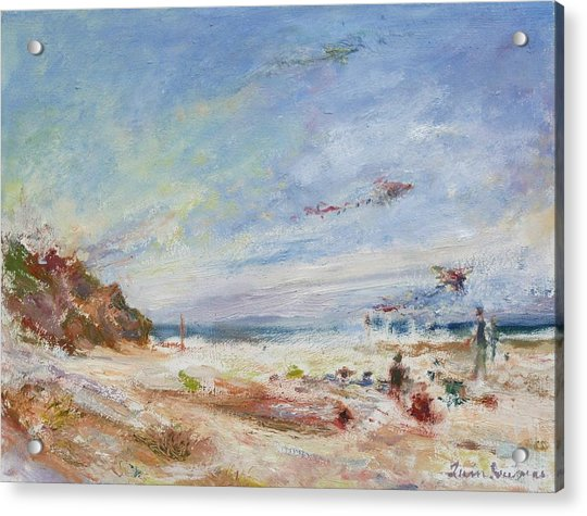 Beachy Day - Impressionist Painting - Original Contemporary Acrylic Print