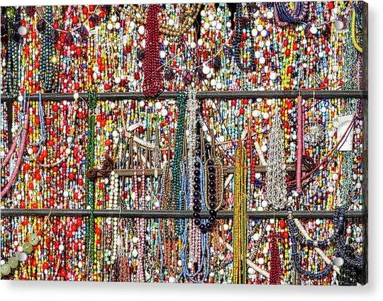 Beads In A Window Acrylic Print