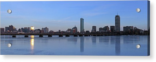 Beantown On Ice Acrylic Print