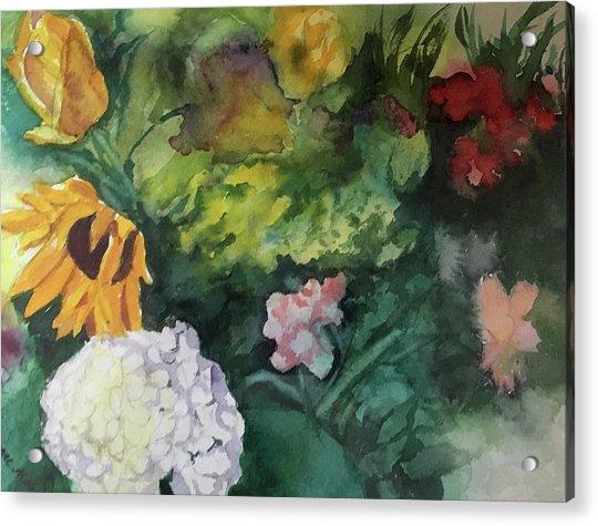 Beautiful Floral Jumble Acrylic Print