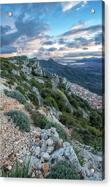Beautiful View Of Baunei Acrylic Print