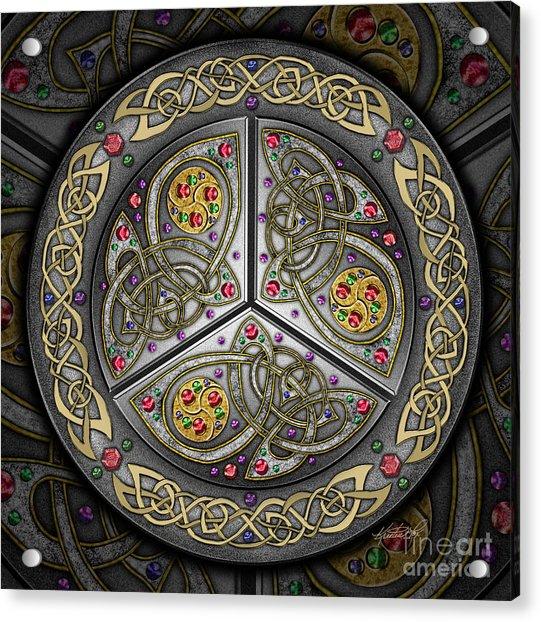 Bejeweled Celtic Shield Acrylic Print