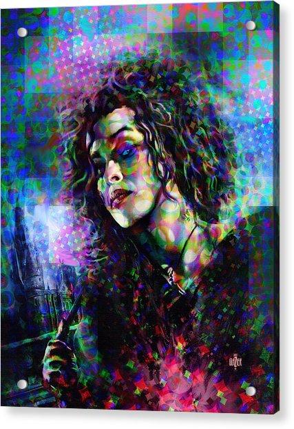 Bellatrix Lestrange Halftone Portrait Acrylic Print