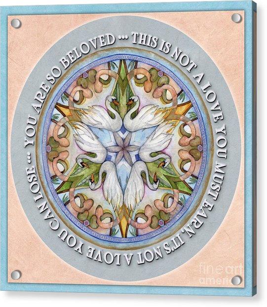 Beloved Mandala Prayer Acrylic Print