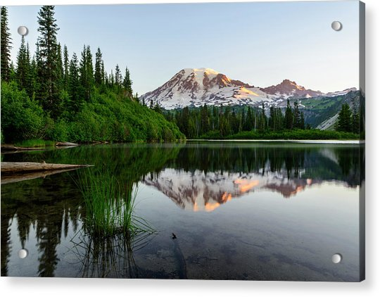 Bench Lake Acrylic Print