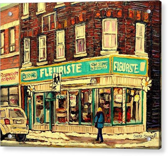 Bernard Florist Acrylic Print