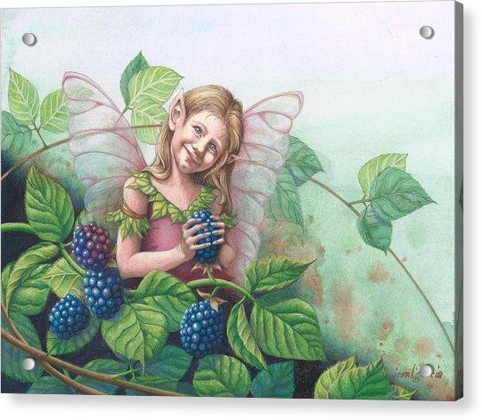 Blackberry Fairie Acrylic Print