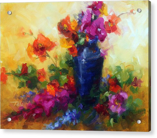 Acrylic Print featuring the painting Best Friends by Talya Johnson