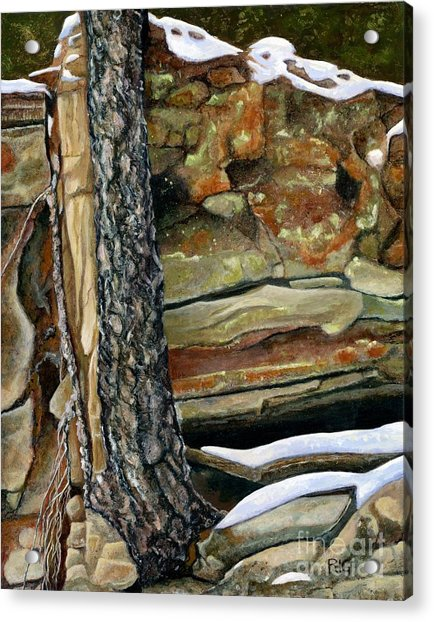 Between A Rock And A Hard Place Acrylic Print