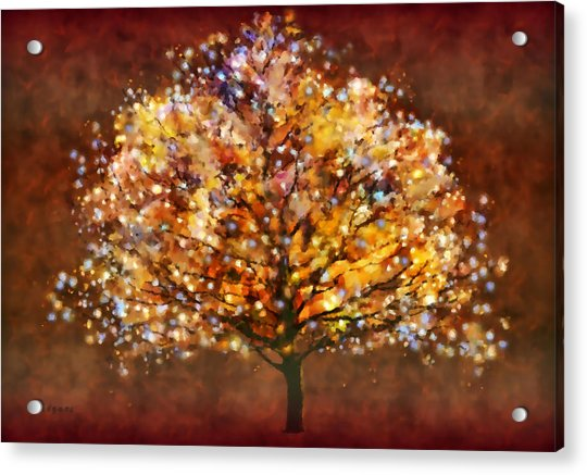 Acrylic Print featuring the painting Starry Tree by Valerie Anne Kelly