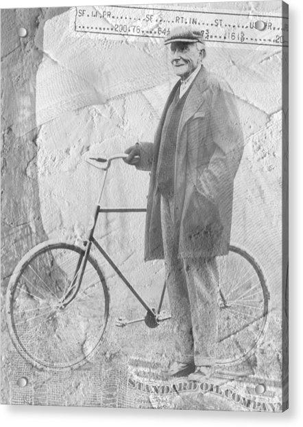 Bicycle And Jd Rockefeller Vintage Photo Art Acrylic Print