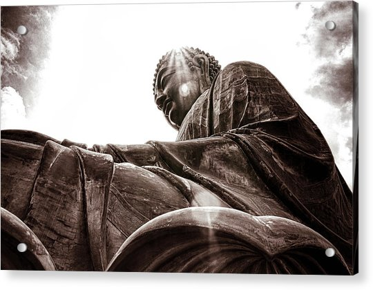 Acrylic Print featuring the digital art Big Buddha by Kevin McClish